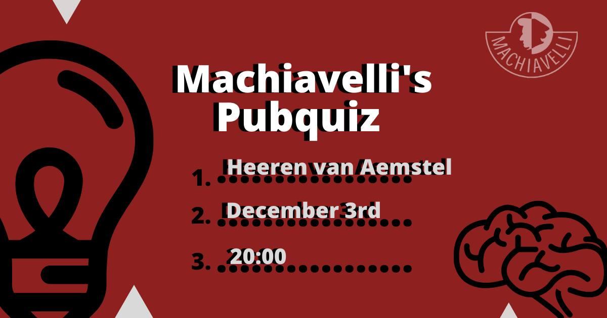 Machiavelli's Pubquiz