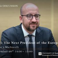 Charles Michel: The Next President of the European Council