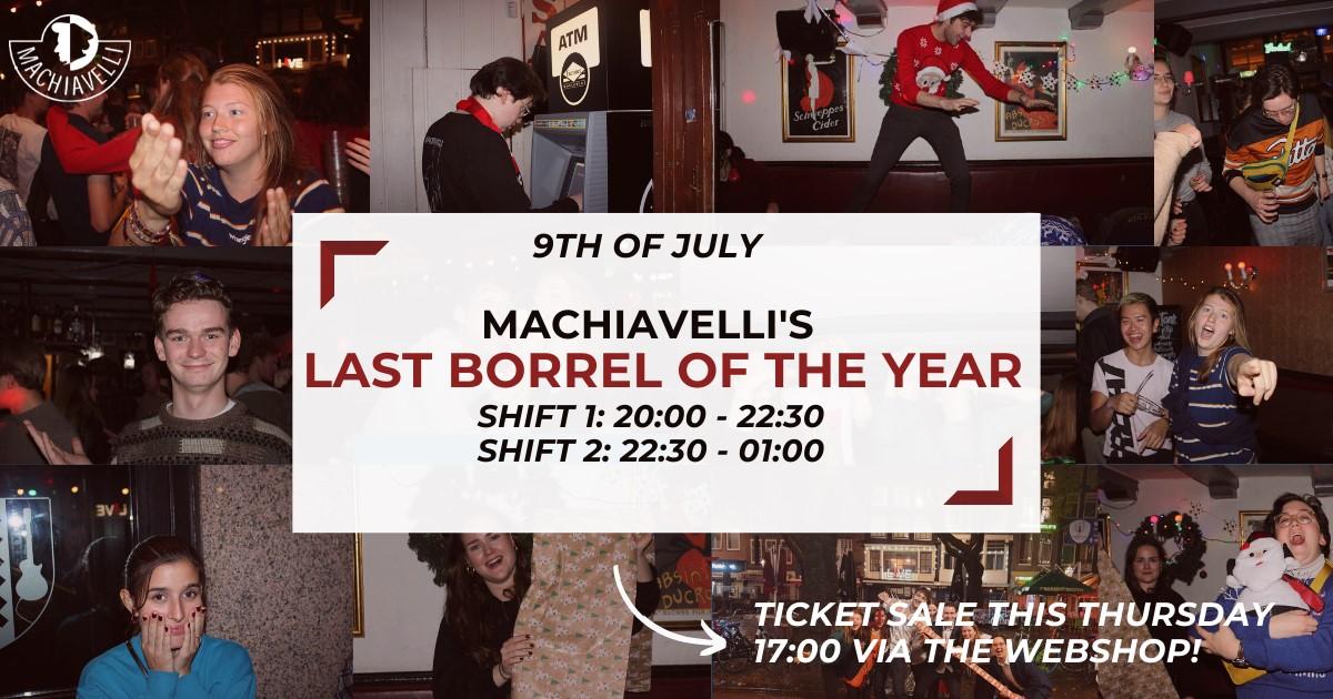 Machiavelli's last borrel of the year