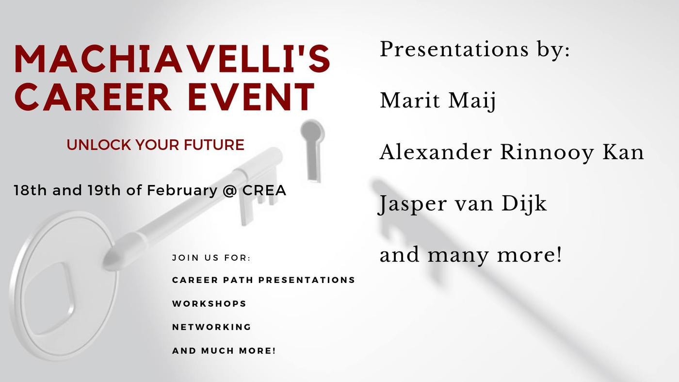 Machiavelli's career event - Unlock your future