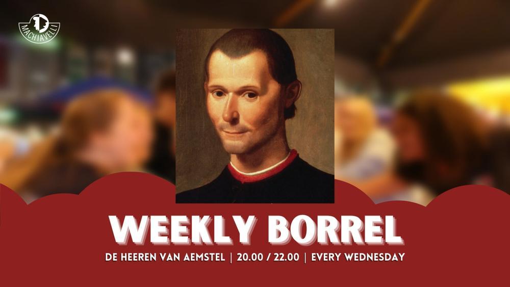 Weekly Borrel Shift 1 (20:00 - 21:45)