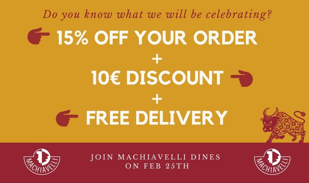 Machiavelli Dines: Online Edition