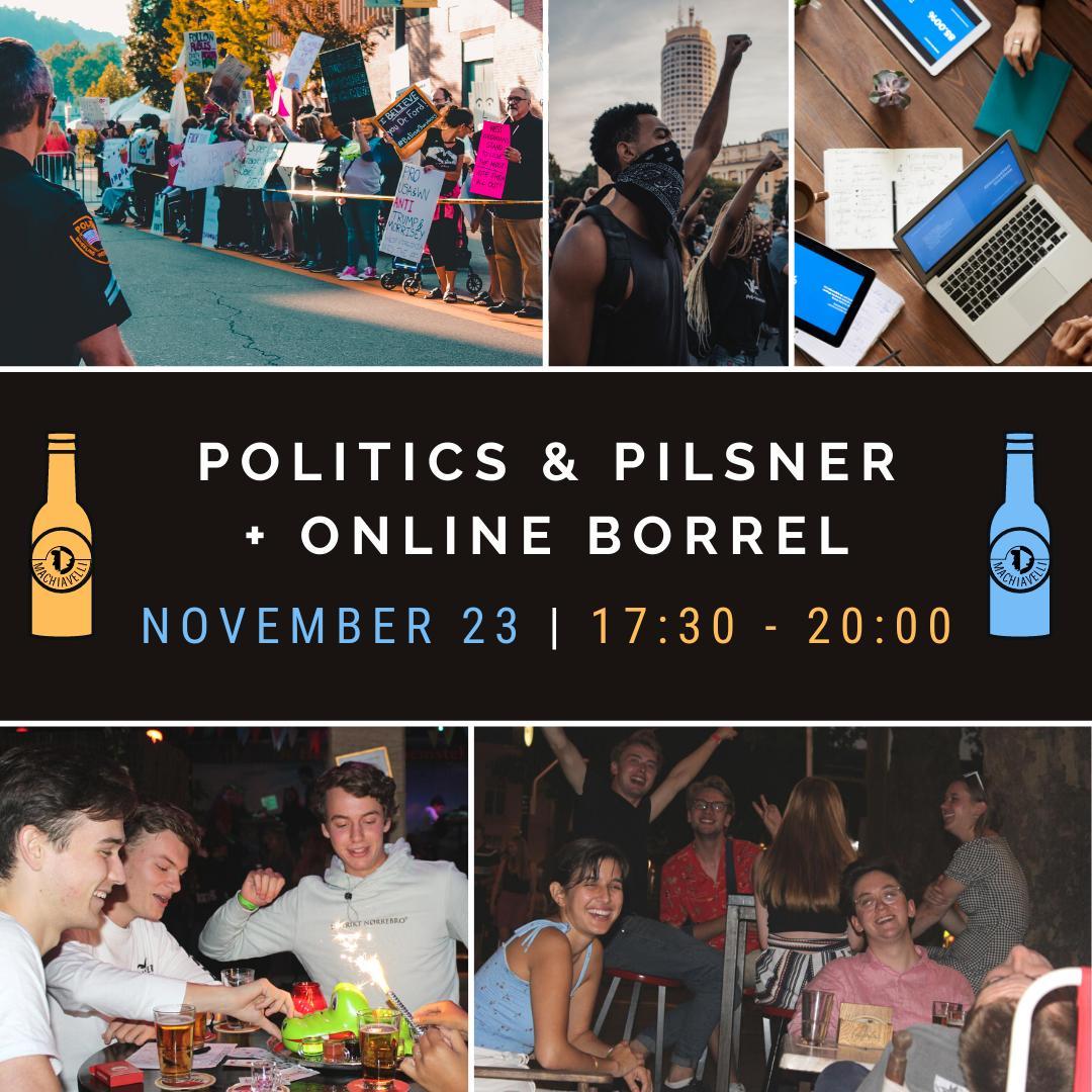 Politics & Pilsner + Online Borrel