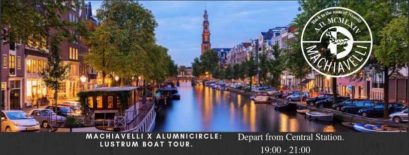 Machiavelli x Alumni circle: Lustrum boattour