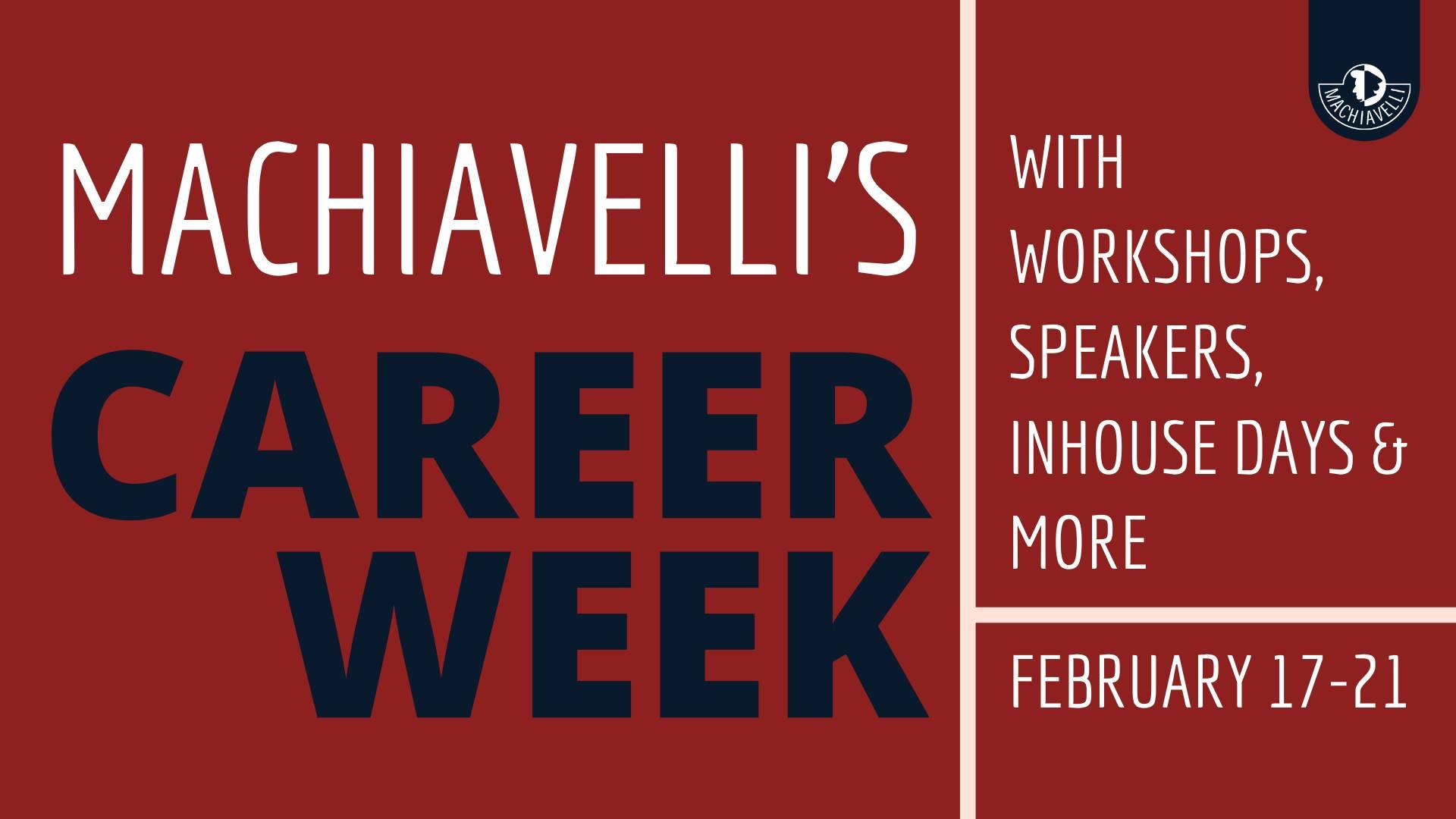 Machiavelli's Career Week